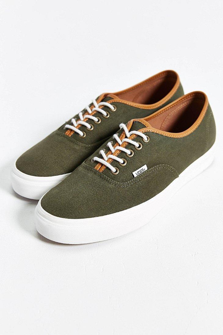 Vans Authentic Leather Trim Sneaker in