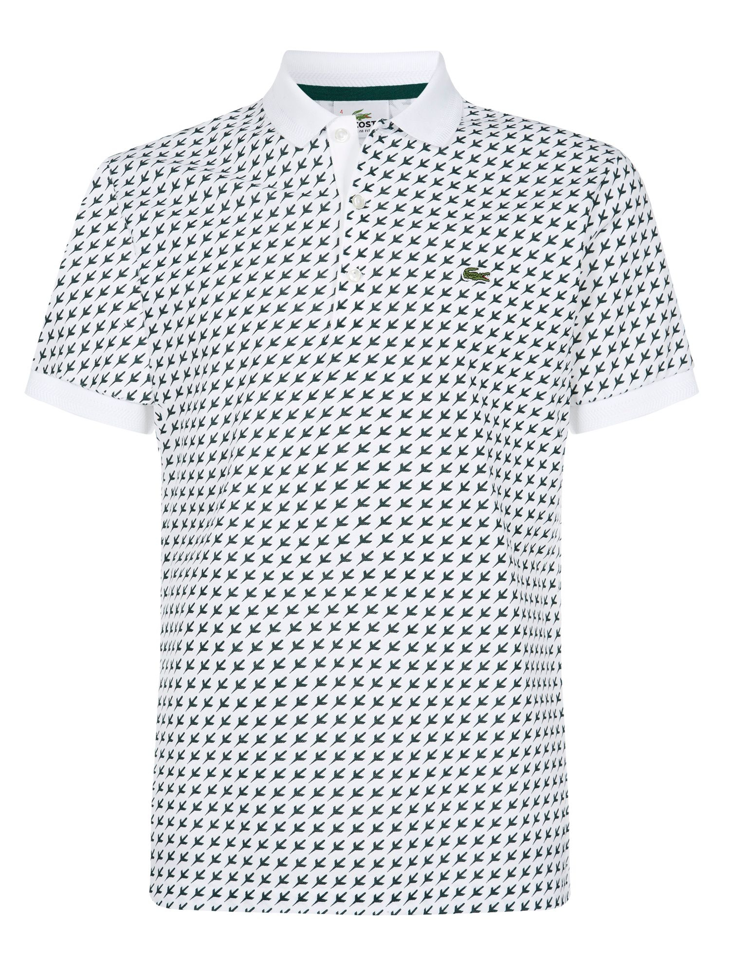 lacoste printed polo shirt in white for men lyst. Black Bedroom Furniture Sets. Home Design Ideas