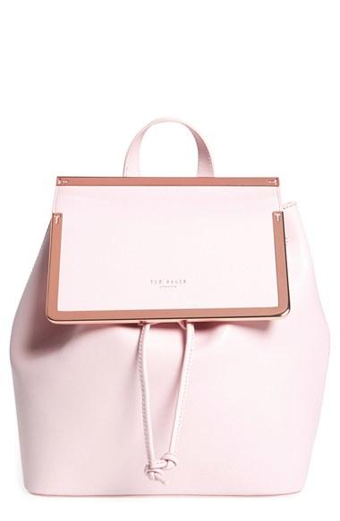lyst ted baker metal trim backpack in pink. Black Bedroom Furniture Sets. Home Design Ideas