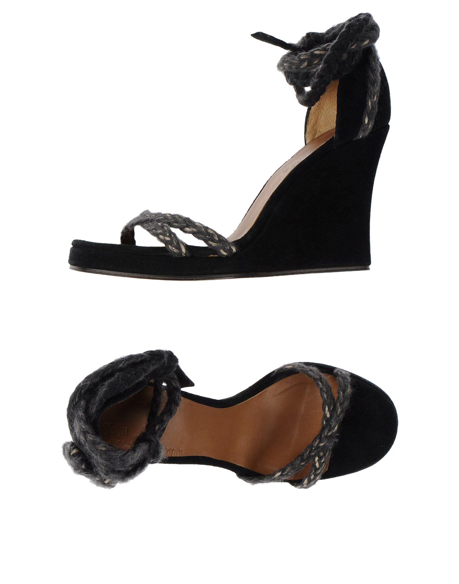 John Galliano Sandals In Black Lyst