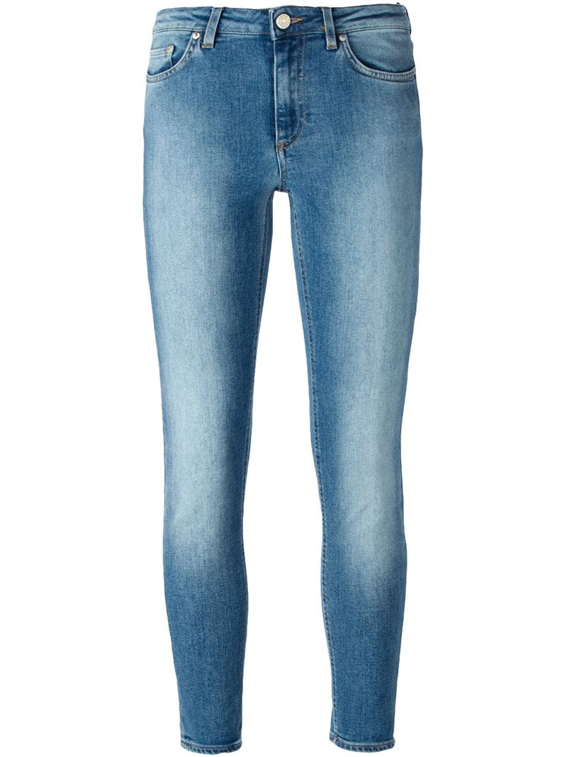 acne studios 39 skin 5 39 skinny jeans in blue lyst. Black Bedroom Furniture Sets. Home Design Ideas