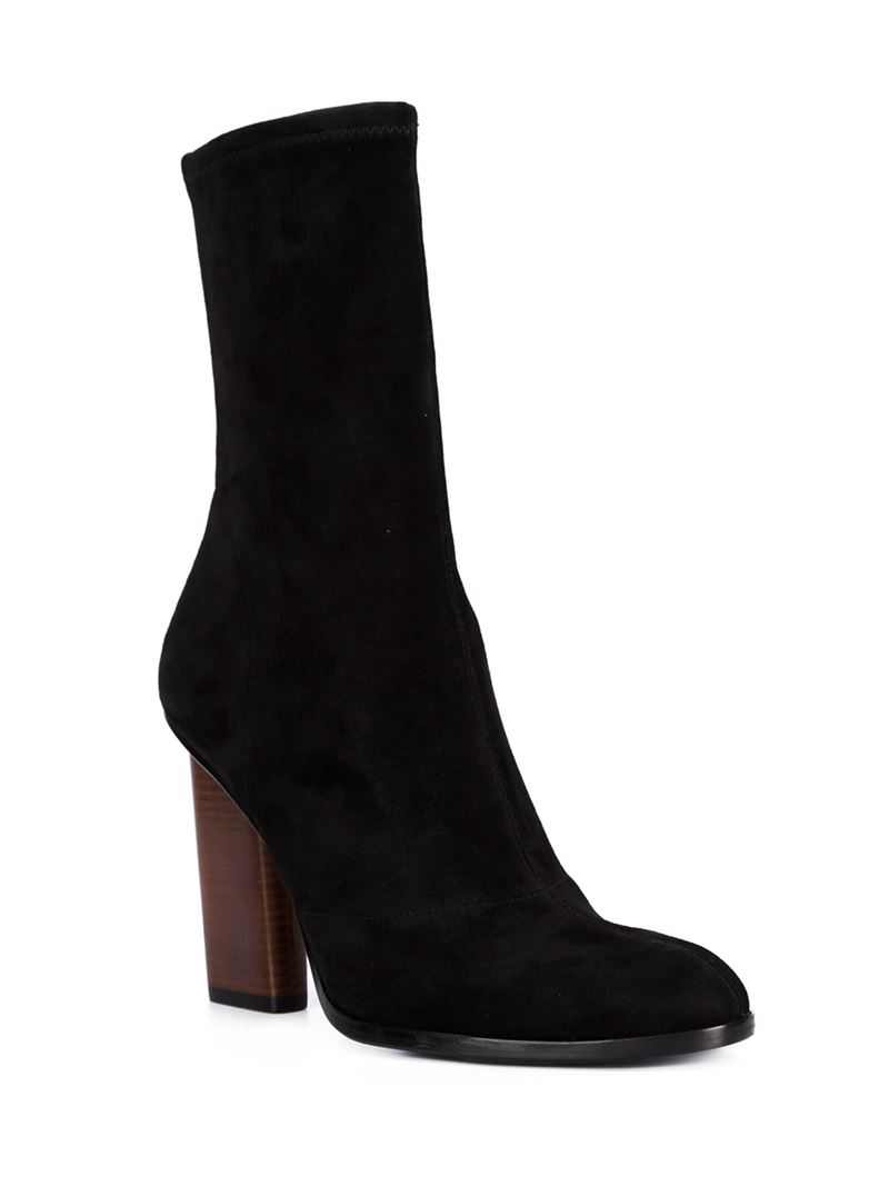 wang chunky heel boots in black lyst
