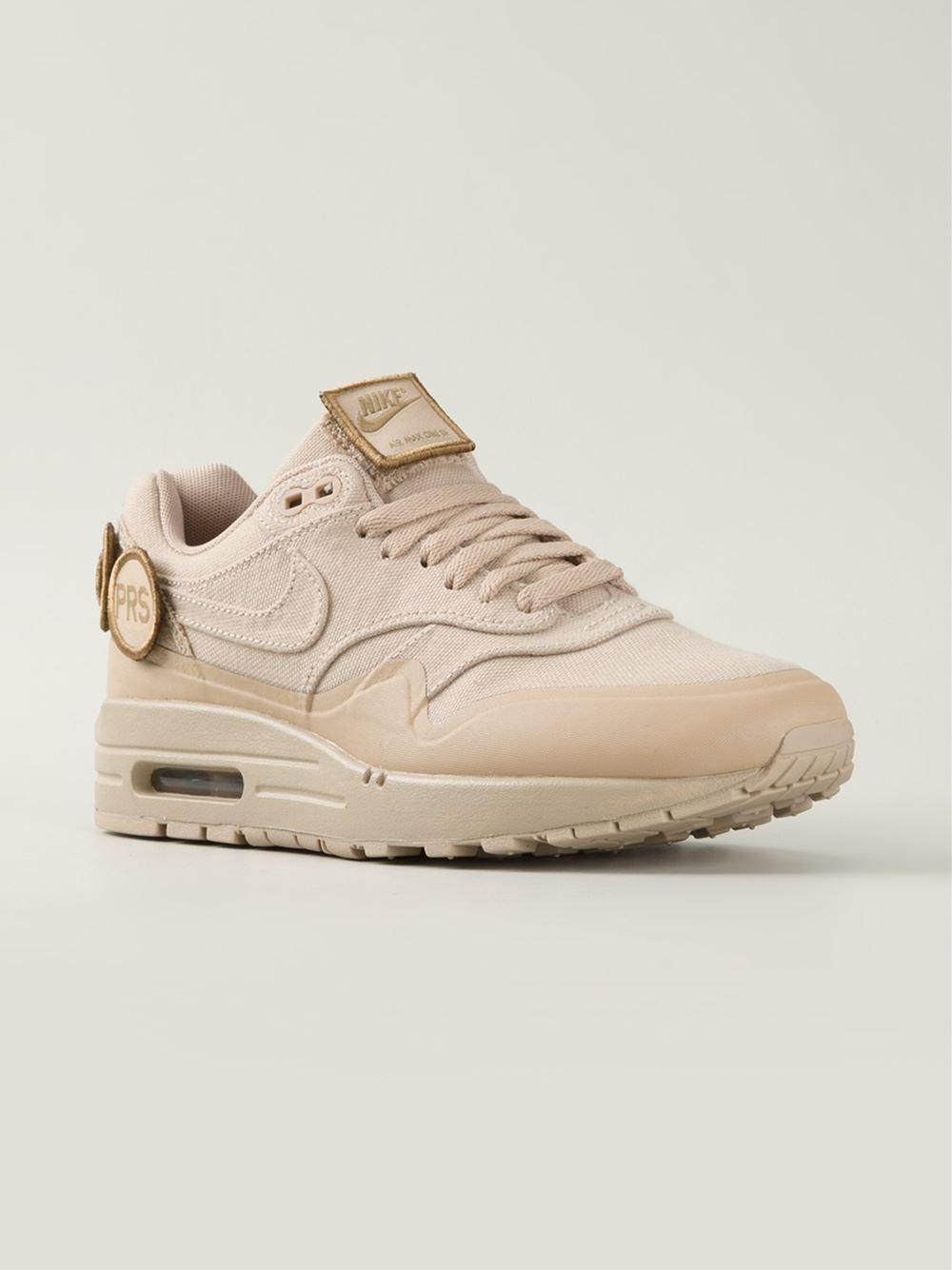 Nike 'Air Max 1' Sneakers in Natural for Men - Lyst