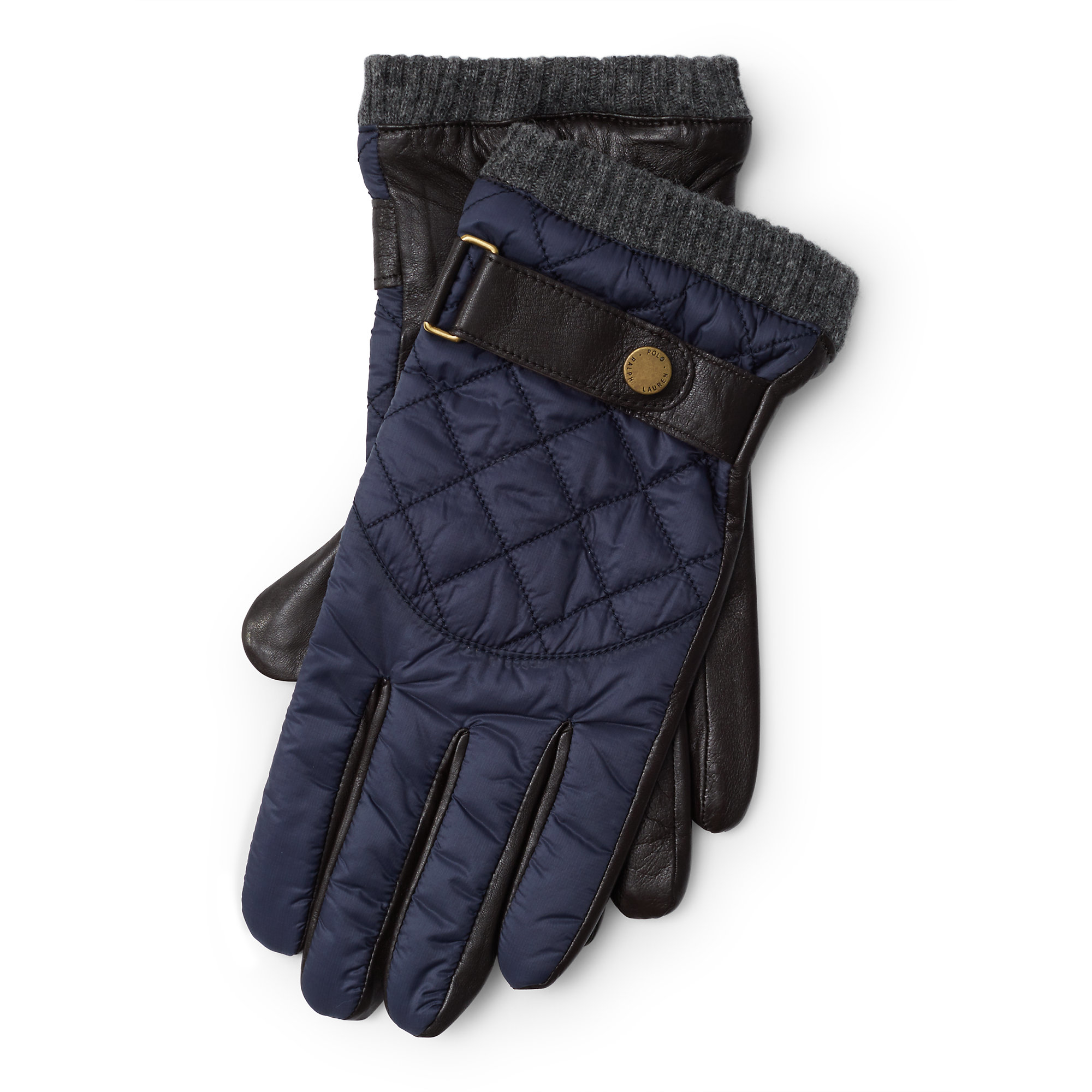 Lyst - Polo ralph lauren Diamond-quilted Leather Gloves in Black ... : quilted leather gloves mens - Adamdwight.com