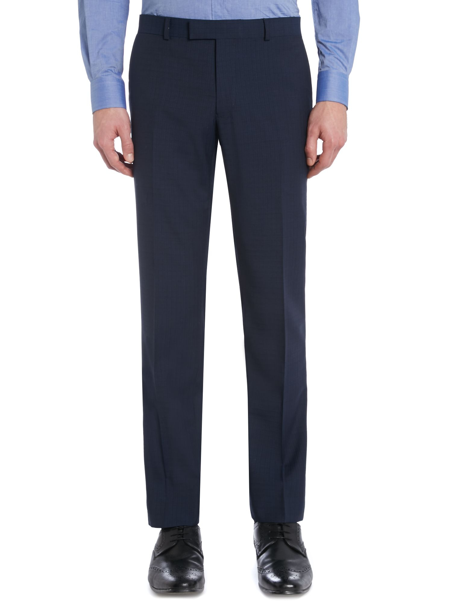 Kenneth Cole Wool Hendrickson Grid Pattern Slim Fit Suit Trousers in Navy (Blue) for Men