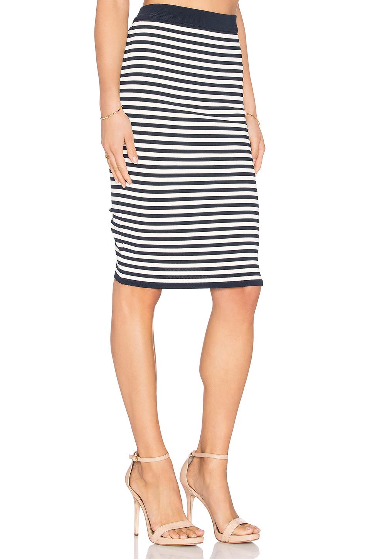 egrey striped midi skirt in blue lyst