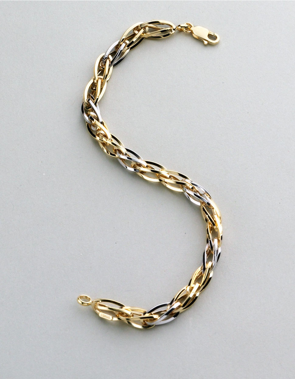 Lyst Lord Amp Taylor Mens 14k Two Tone Gold Bracelet In