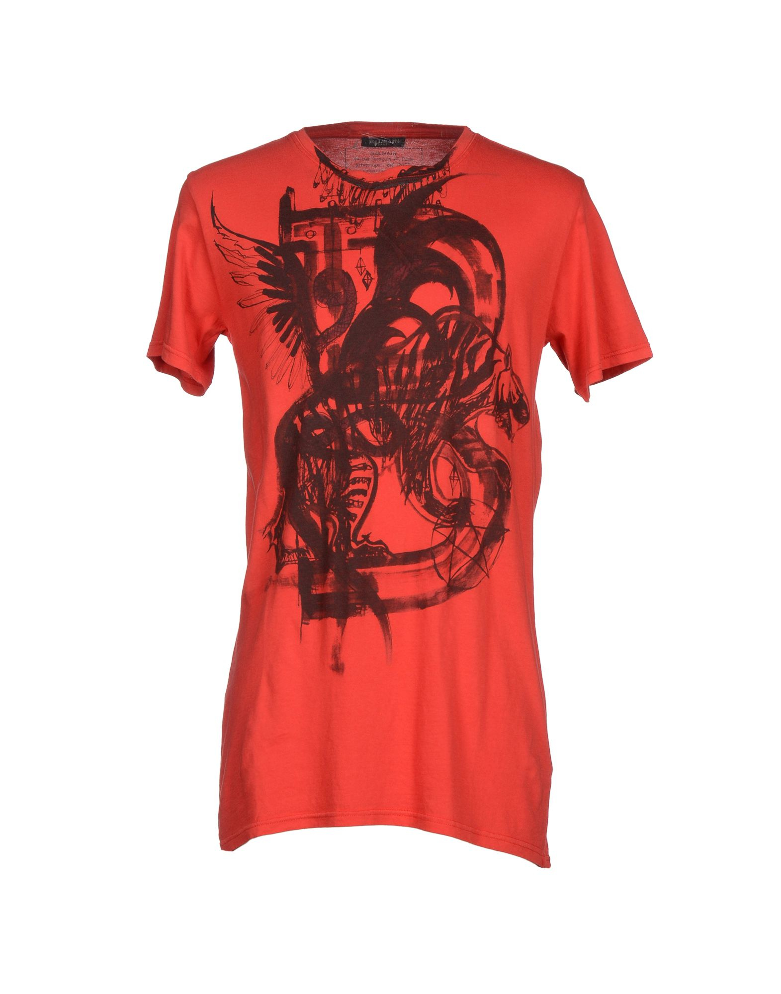 balmain t shirt in red for men lyst. Black Bedroom Furniture Sets. Home Design Ideas