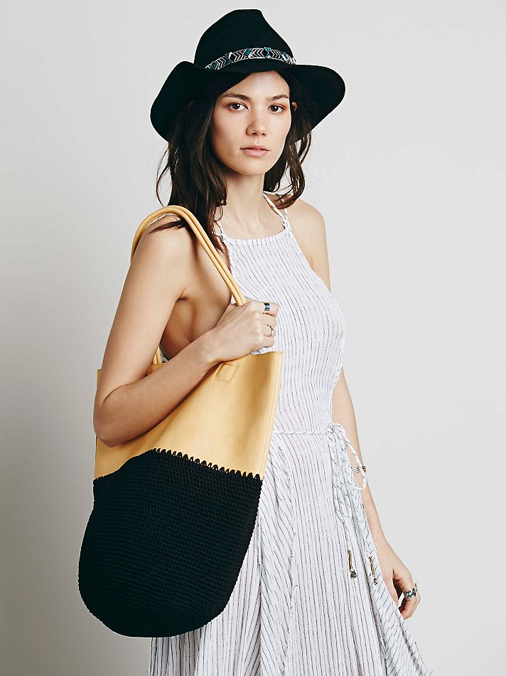Lyst Free People Mix Up Vegan Tote In Natural