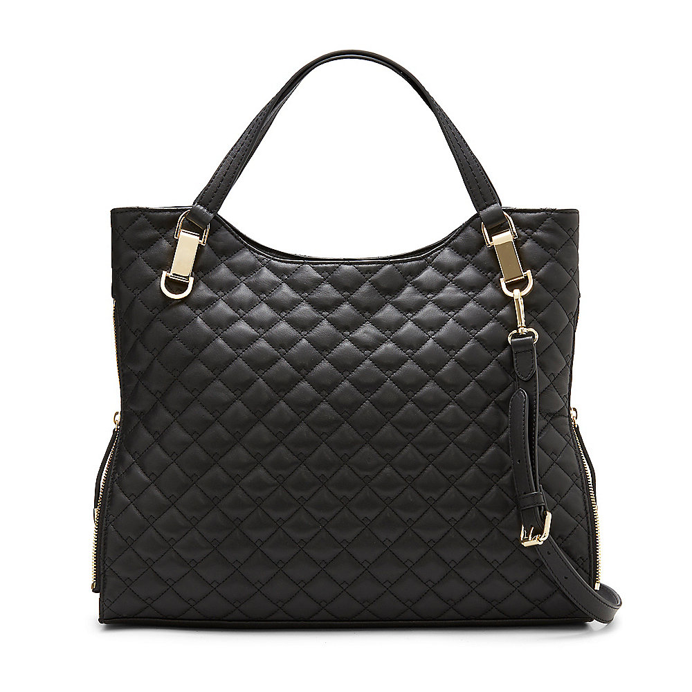 Vince Camuto Riley3 Quilted Leather Tote In Black Lyst