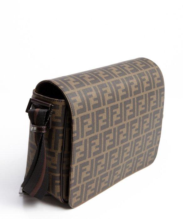 fcb3074571 ... crossbody bag 02b43 1cbf3 discount code for lyst fendi tobacco brown  zucca spalmati small messenger bag in cb3be 49f33 ...
