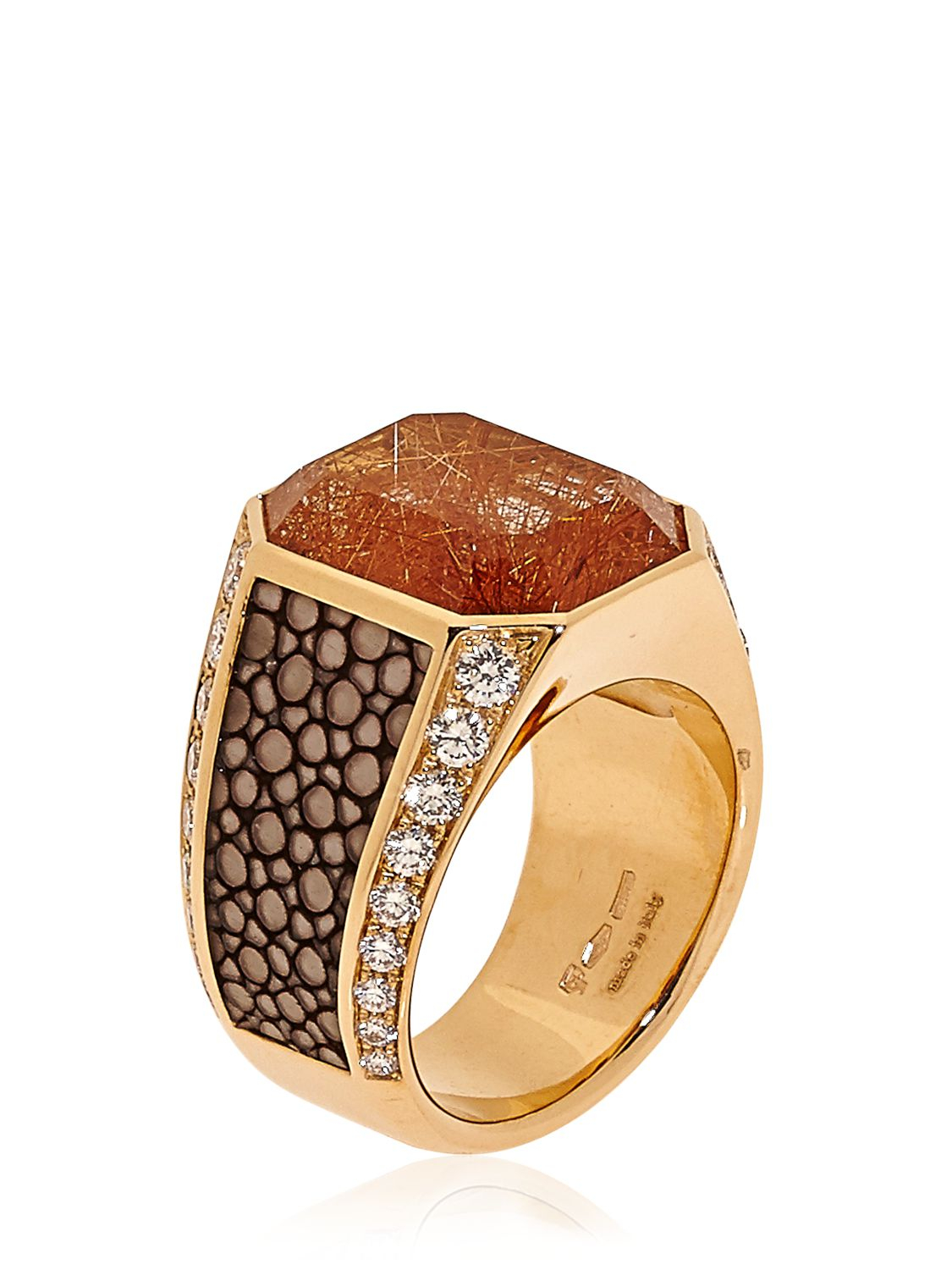 ferragamo galuchat jewellery collection ring in