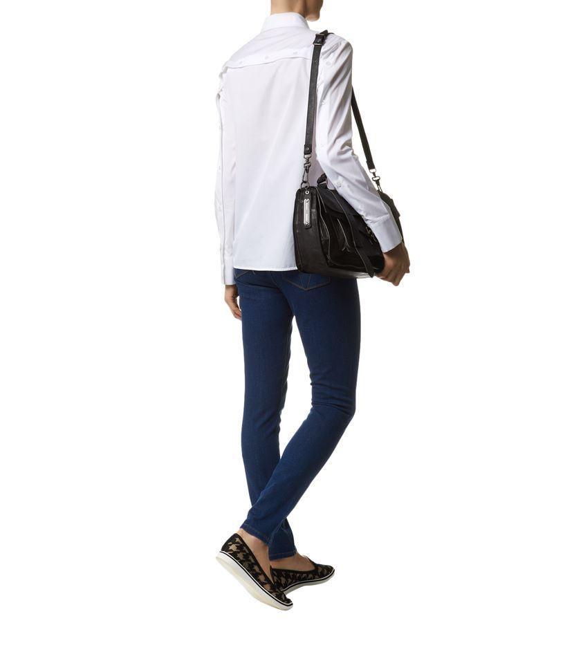 Lyst Victoria Beckham Button Back Cotton Shirt In White