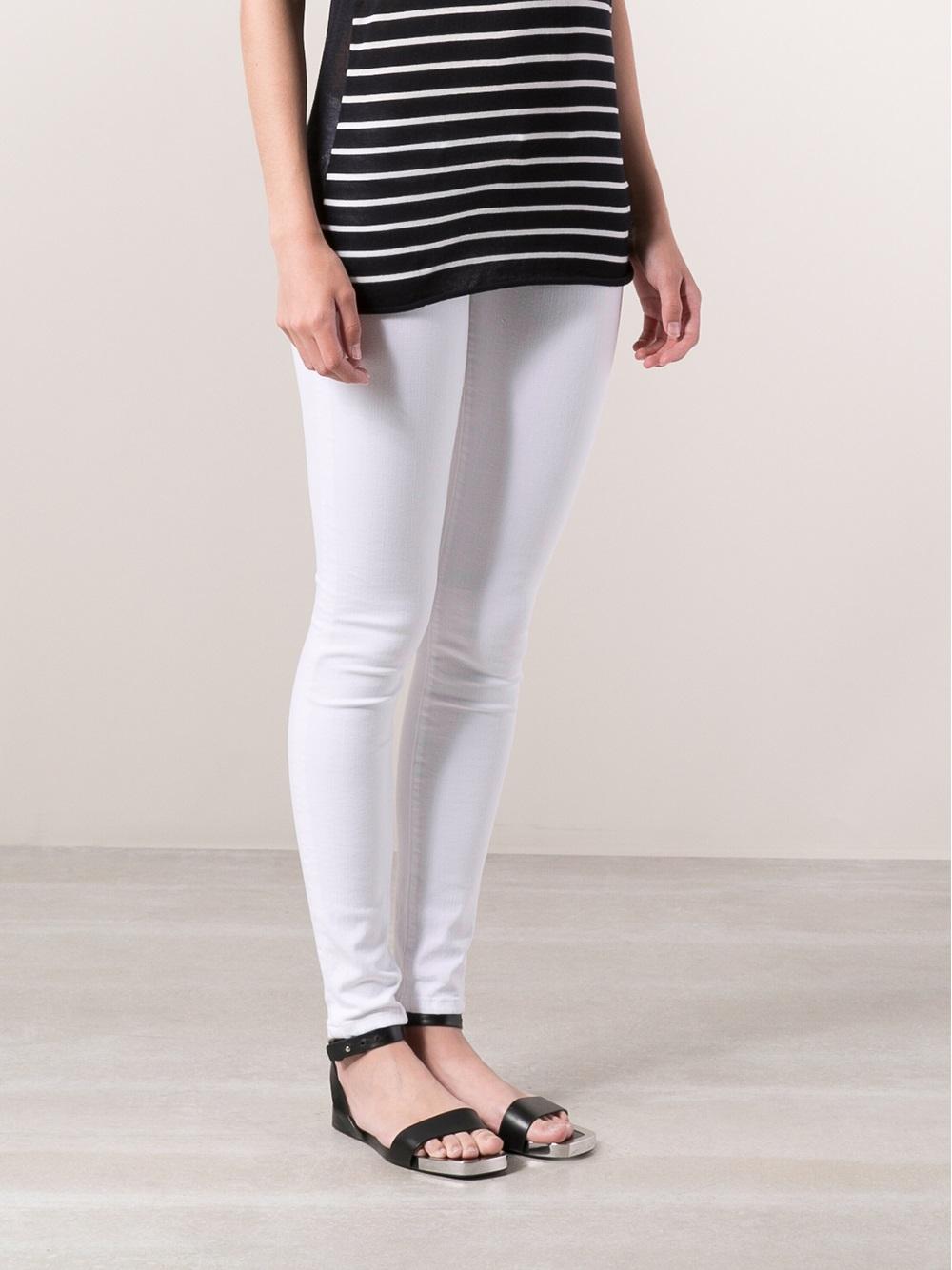 Calvin Rucker Heartbreaker Skinny Jeans in White