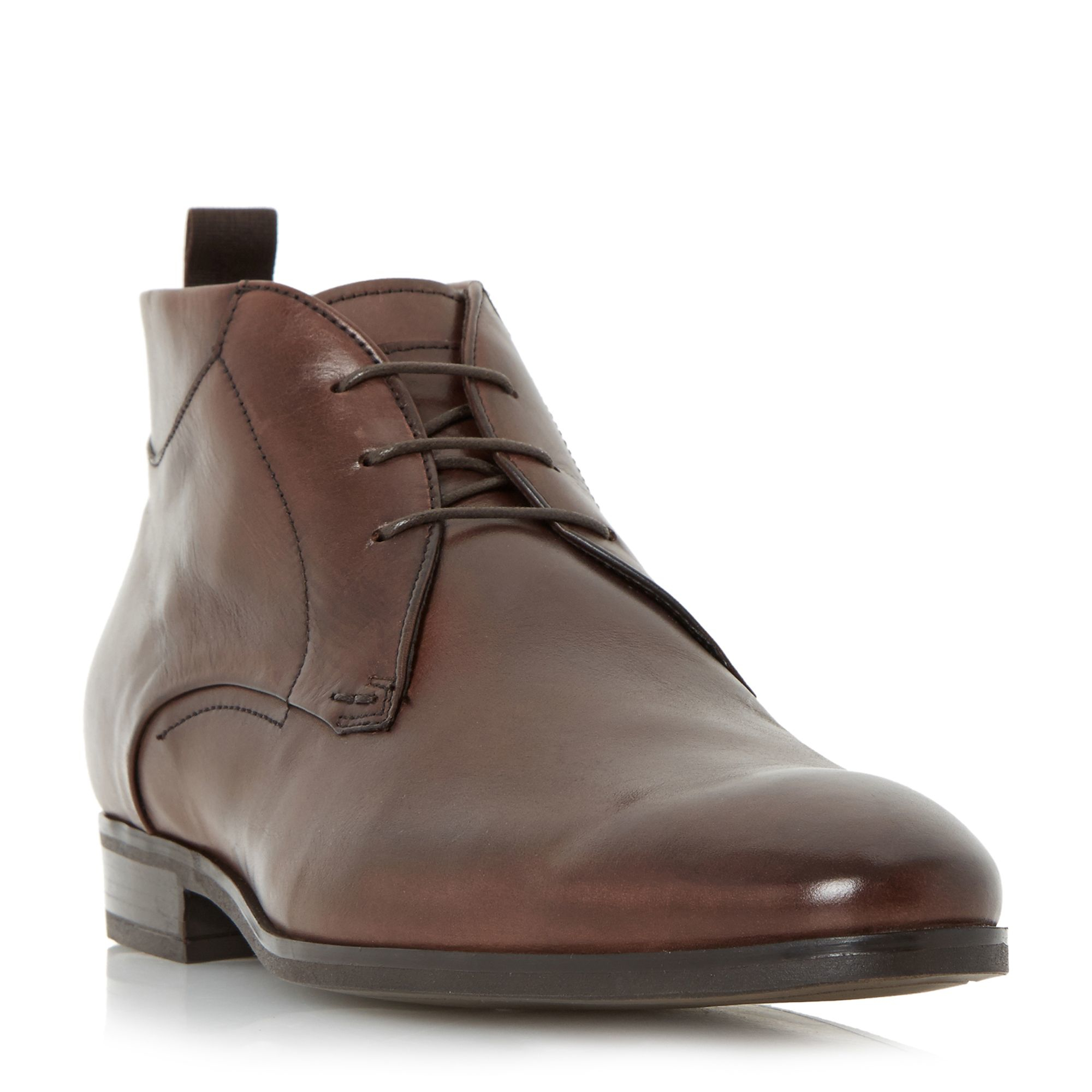 bertie mack leather chukka boots in brown for lyst