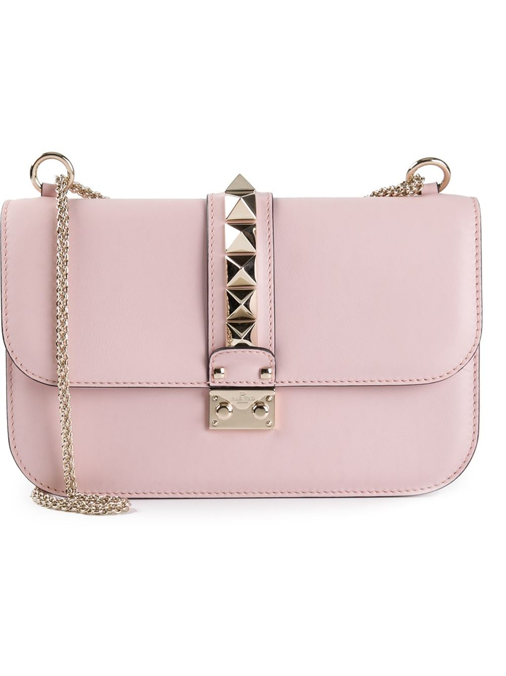 valentino glam lock shoulder bag in pink lyst