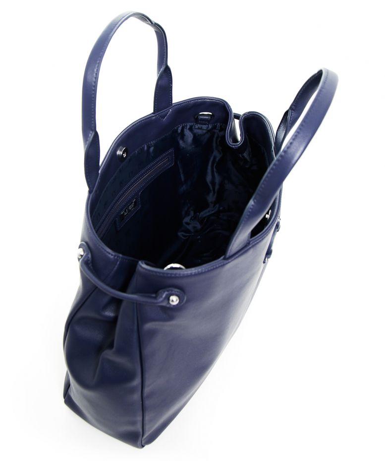 armani jeans eco leather shopper bag in blue navy lyst. Black Bedroom Furniture Sets. Home Design Ideas