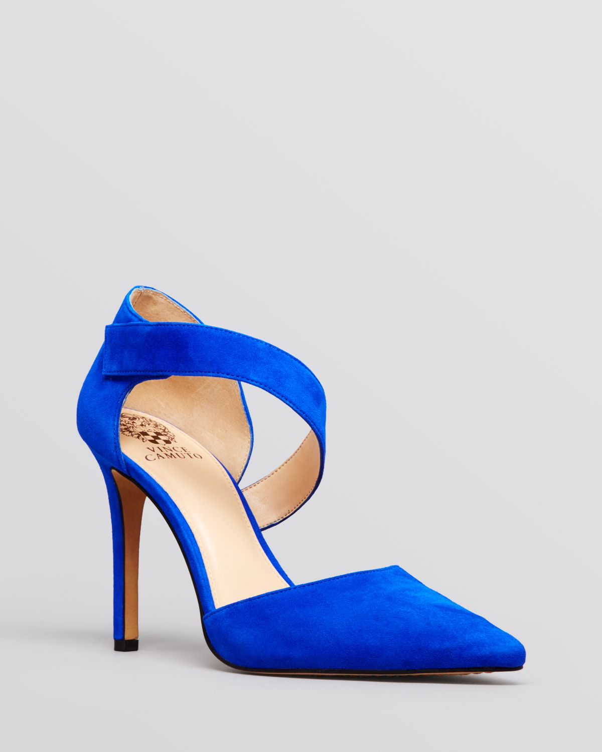 c034b0edd Vince Camuto Pointed Toe Pumps - Carlotte High Heel in Blue - Lyst