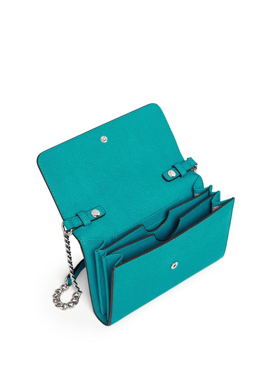 f949c9b40376 Michael Kors  jet Set Travel  Saffiano Leather Phone Crossbody Bag ...