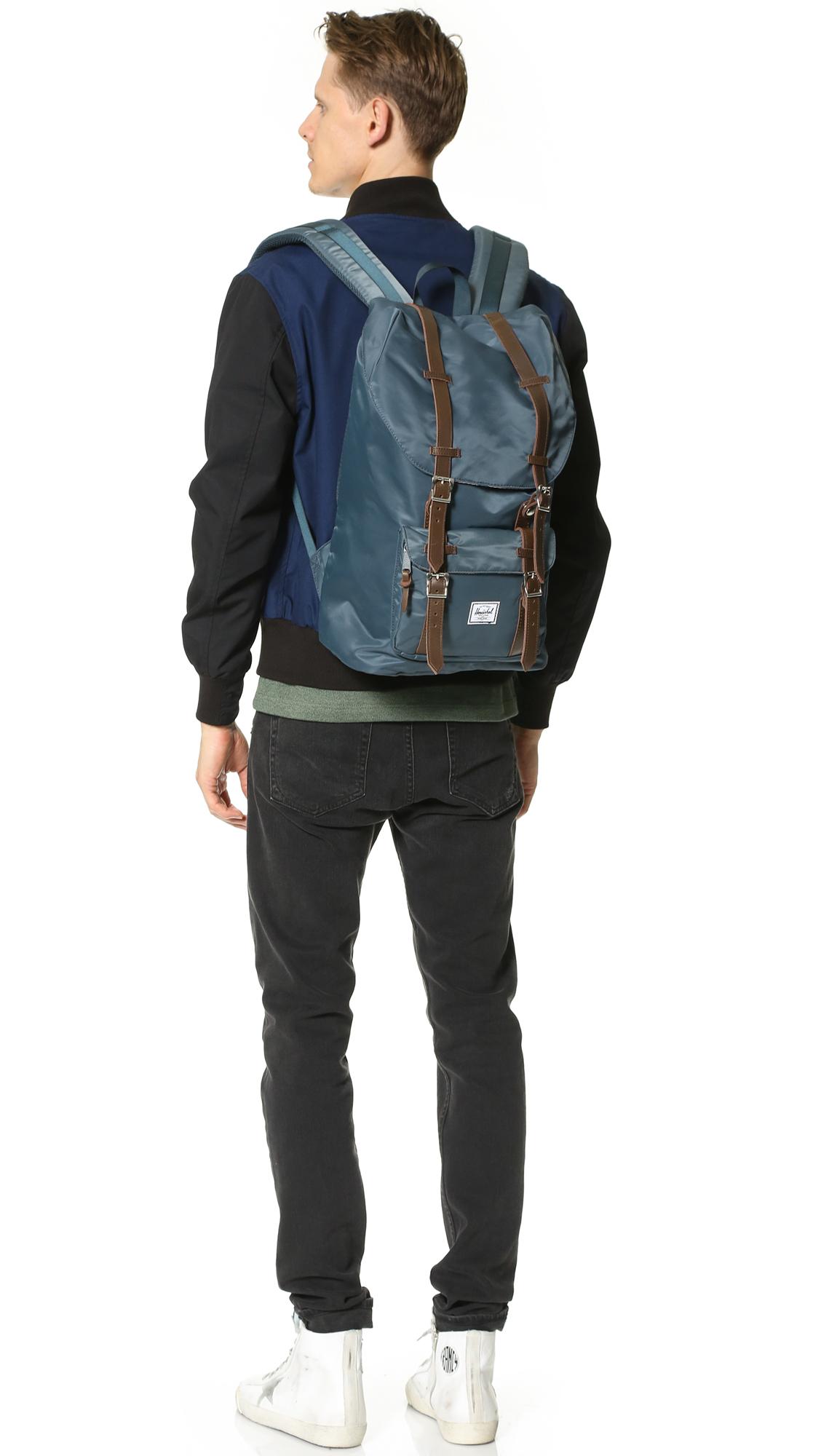 Lyst - Herschel Supply Co. Little America Nylon Backpack in Blue for Men acee391b9ec9f