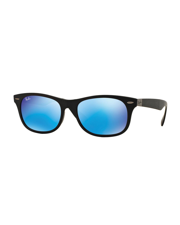 Ray Ban Men S Wayfarer Plastic Sunglasses With Mirror