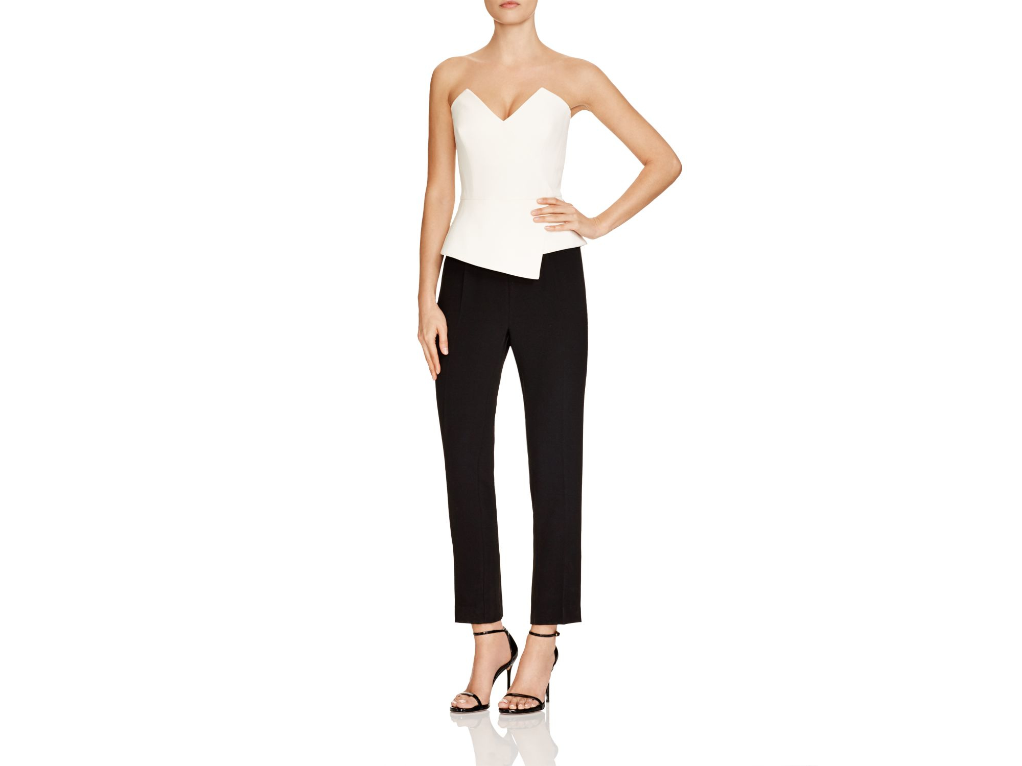 a568fdc658b Lyst - Reiss Dillon Bustier Jumpsuit - Bloomingdale s Exclusive in Black