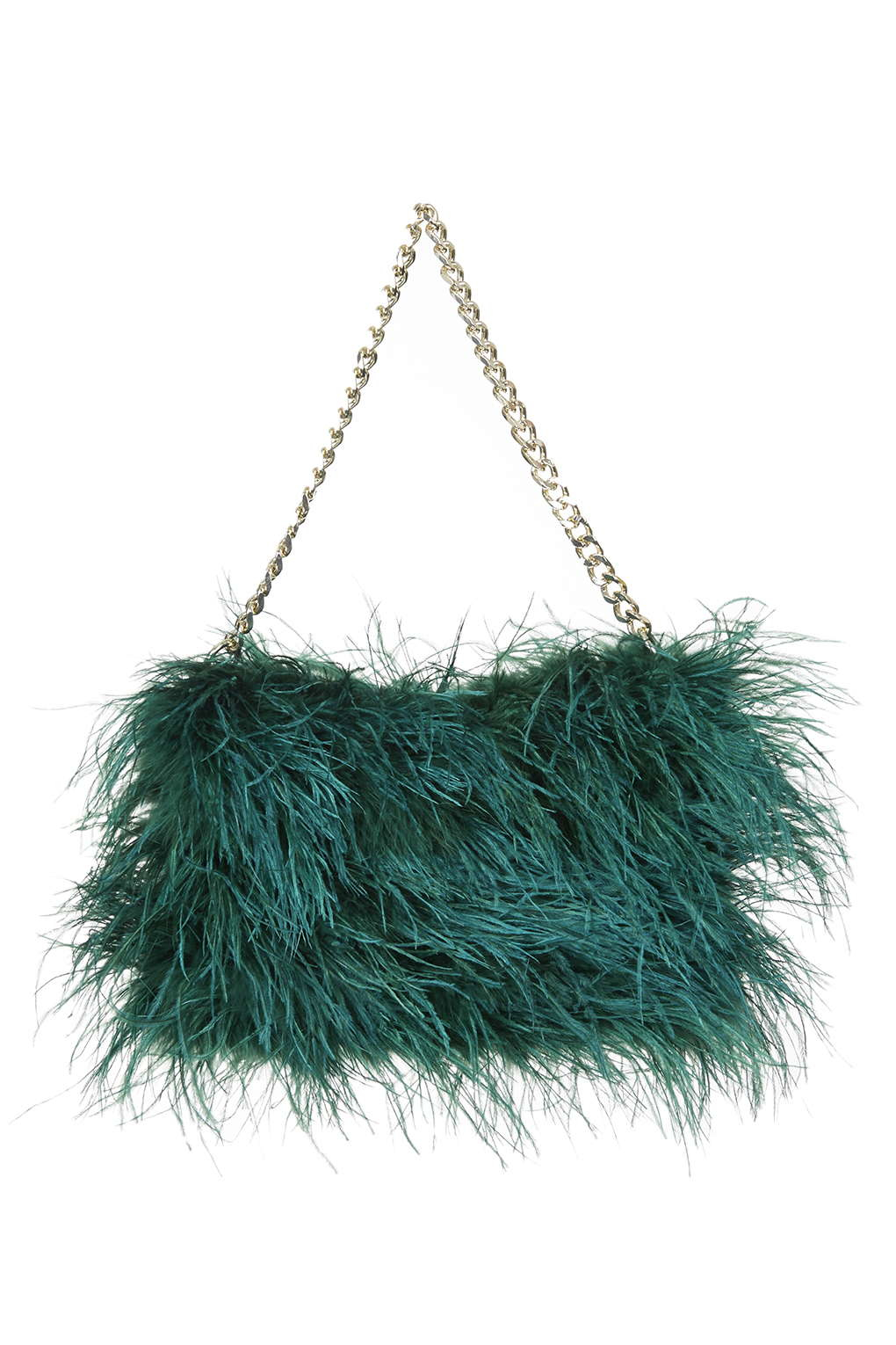 TOPSHOP Premium Feather Shoulder Bag in Green - Lyst 2d1ac6895fa7d