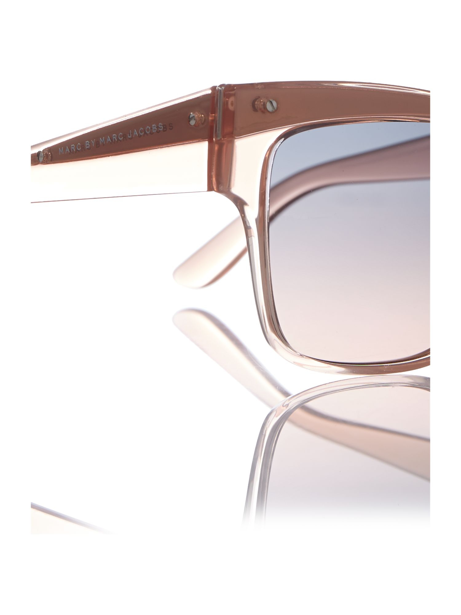 Marc By Marc Jacobs Square Sunglasses in Natural