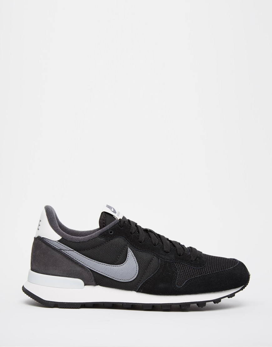 nike internationalist black trainers in black for men. Black Bedroom Furniture Sets. Home Design Ideas