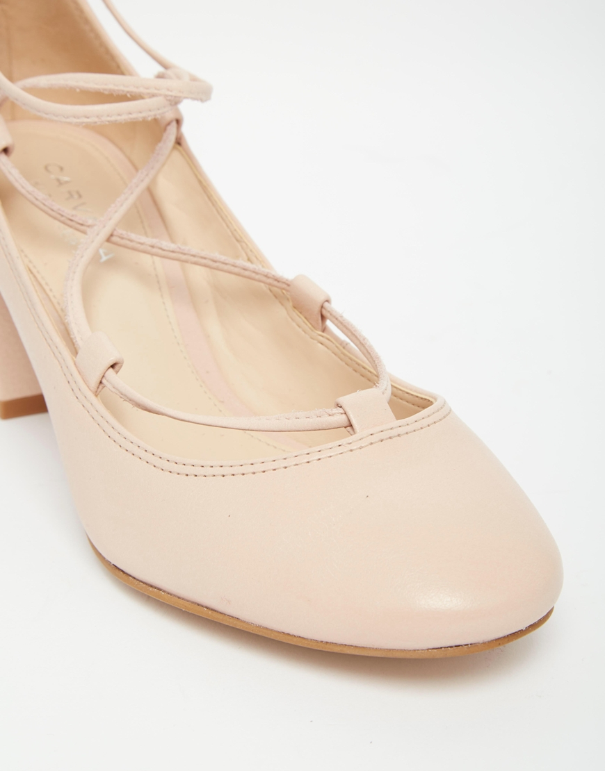 Pale Pink Mid Heel Shoes
