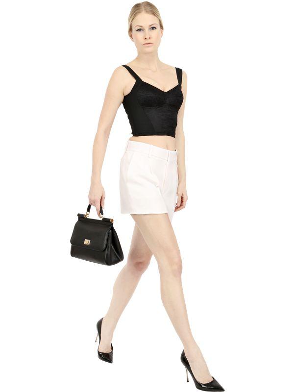 1b840c00c214 Lyst - Dolce   Gabbana Medium Sicily Dauphine Leather Bag in Black
