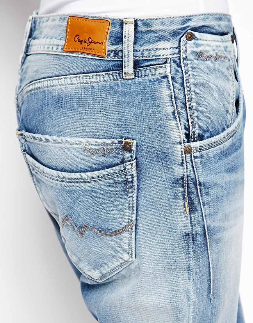 best sneakers 7c6a4 35cf3 Pepe Jeans Blue London Liberal Boyfriend Jeans