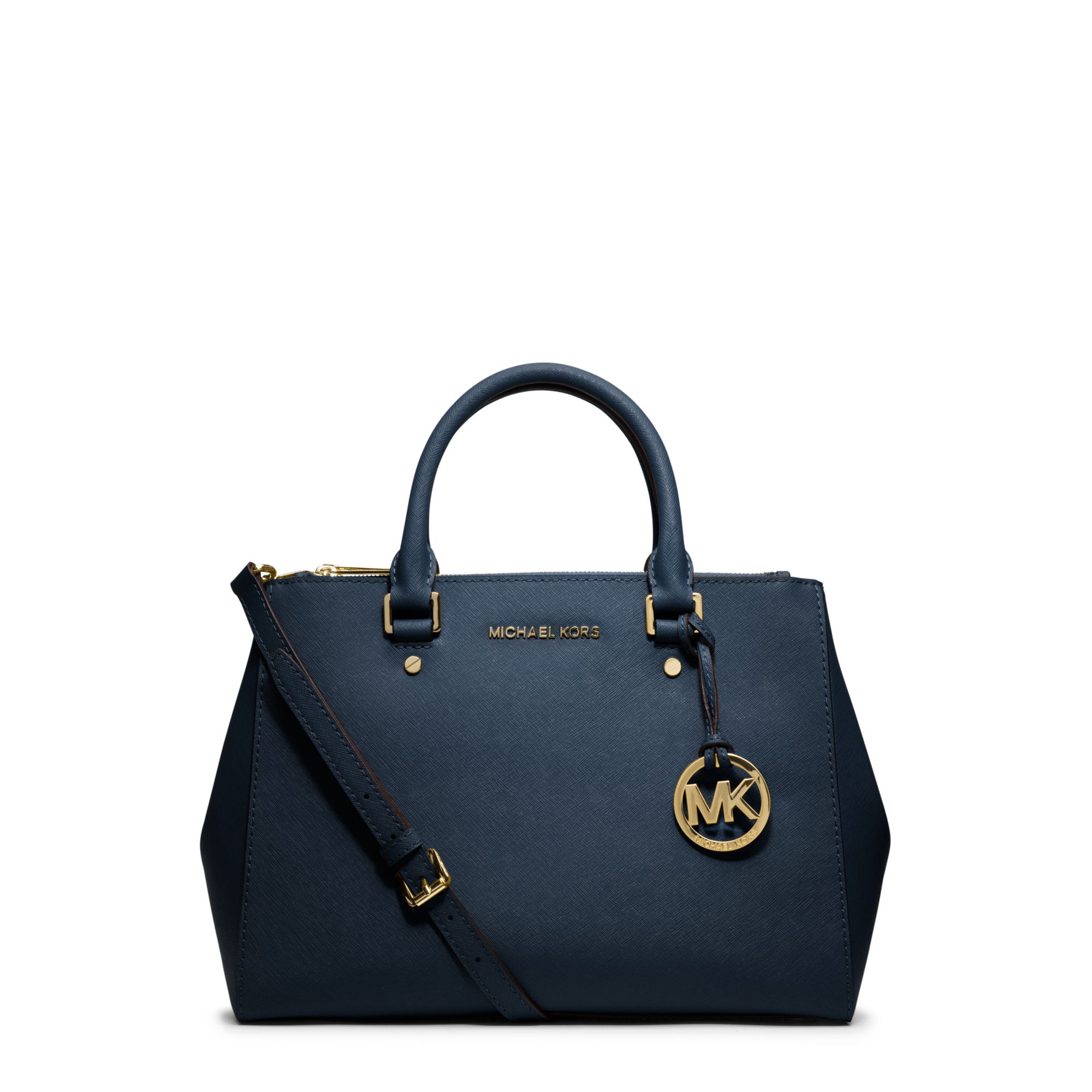 michael kors sutton medium saffiano leather satchel in. Black Bedroom Furniture Sets. Home Design Ideas
