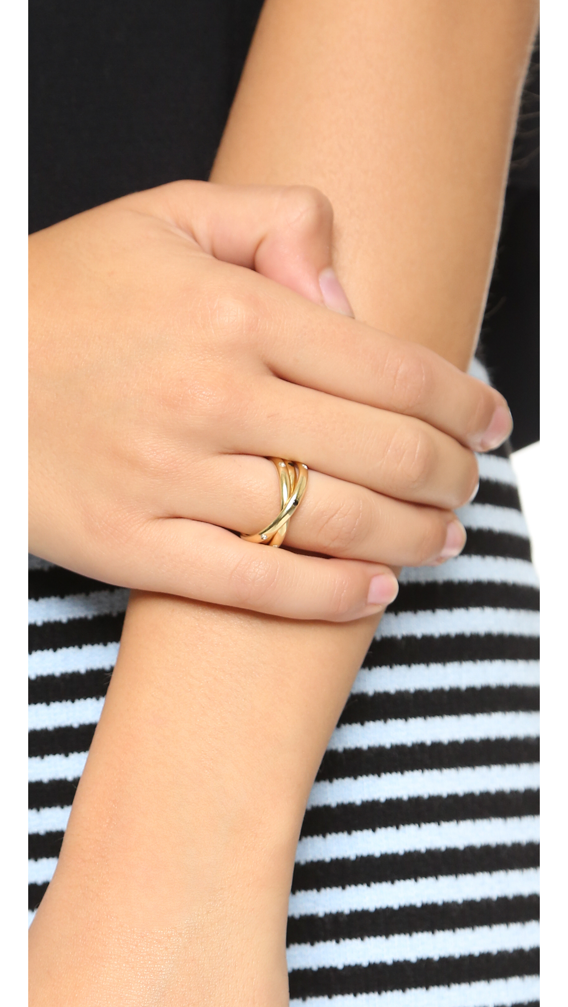 Elizabeth and James Mila Ring - Gold Multi in Metallic