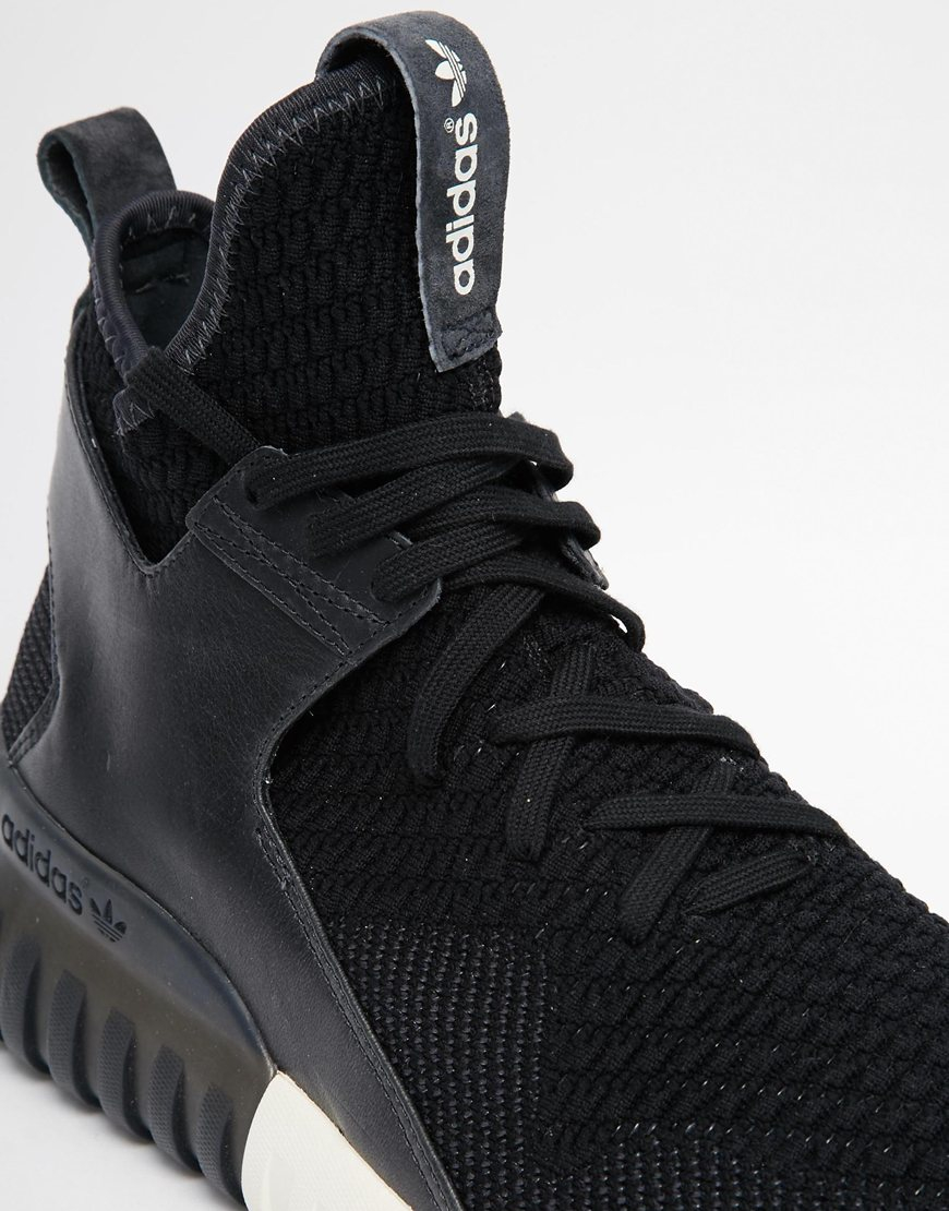 huge selection of 87e80 9b209 Adidas Originals Black Tubular X Knit Mid Trainers S81674 for men