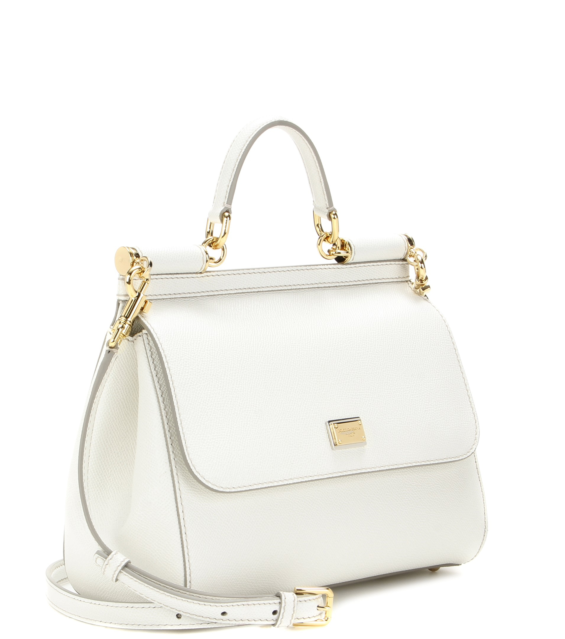 Lyst - Dolce   Gabbana Miss Sicily Medium Leather Shoulder Bag in White bb9562e030