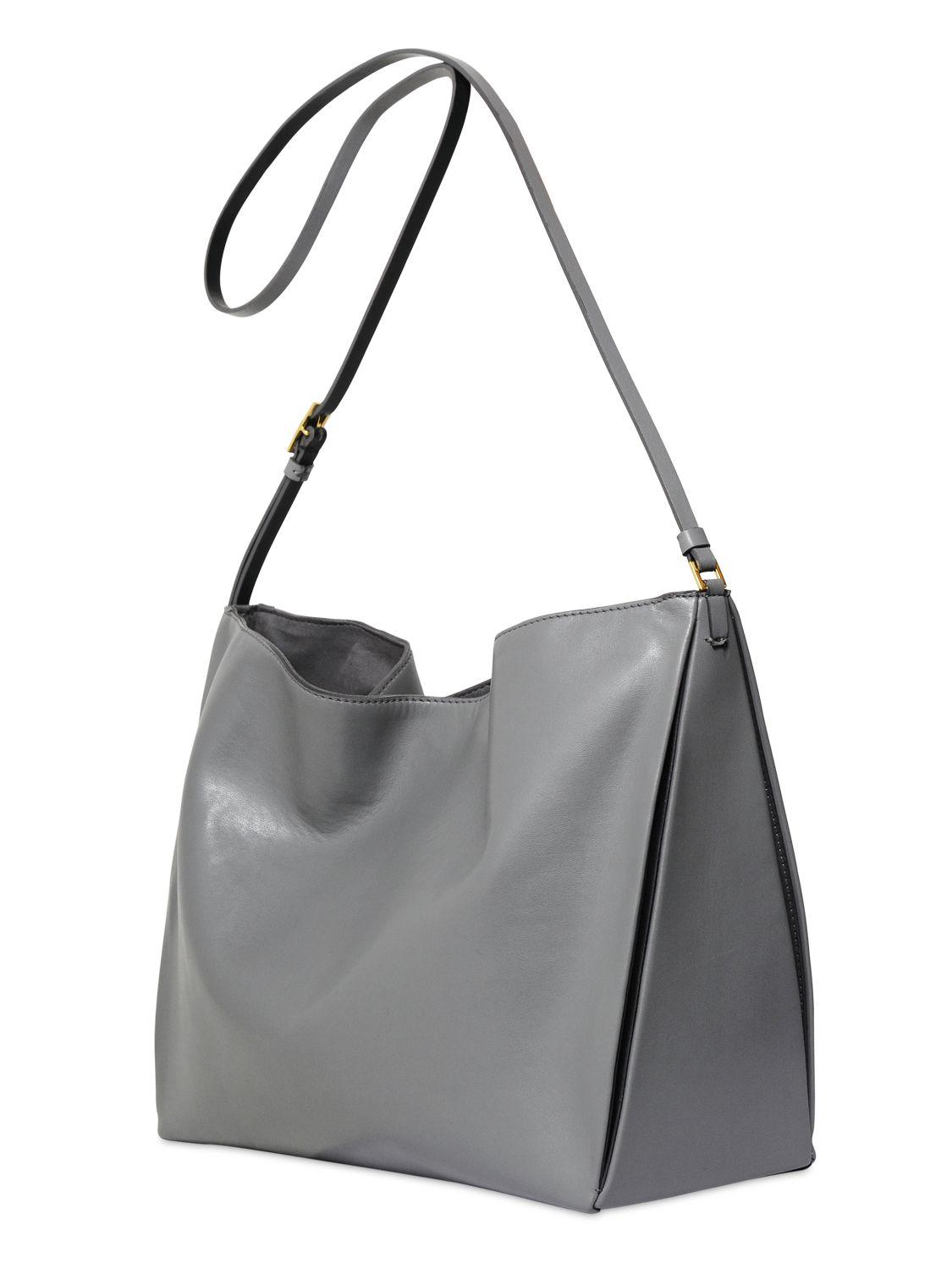 Stella mccartney Eco Faux Nappa Medium Shoulder Bag in Gray | Lyst