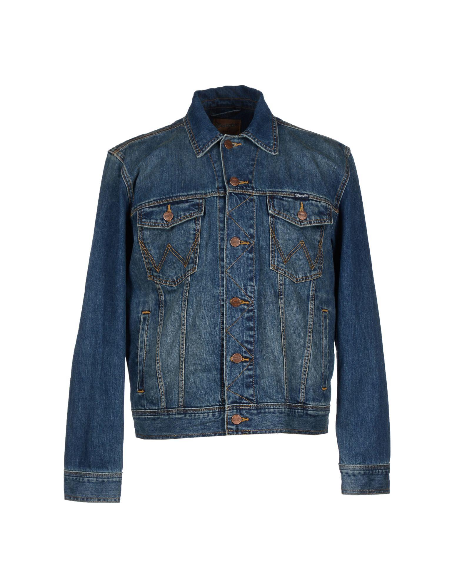 Wrangler denim outerwear in blue for men lyst for Wrangler denim shirts uk