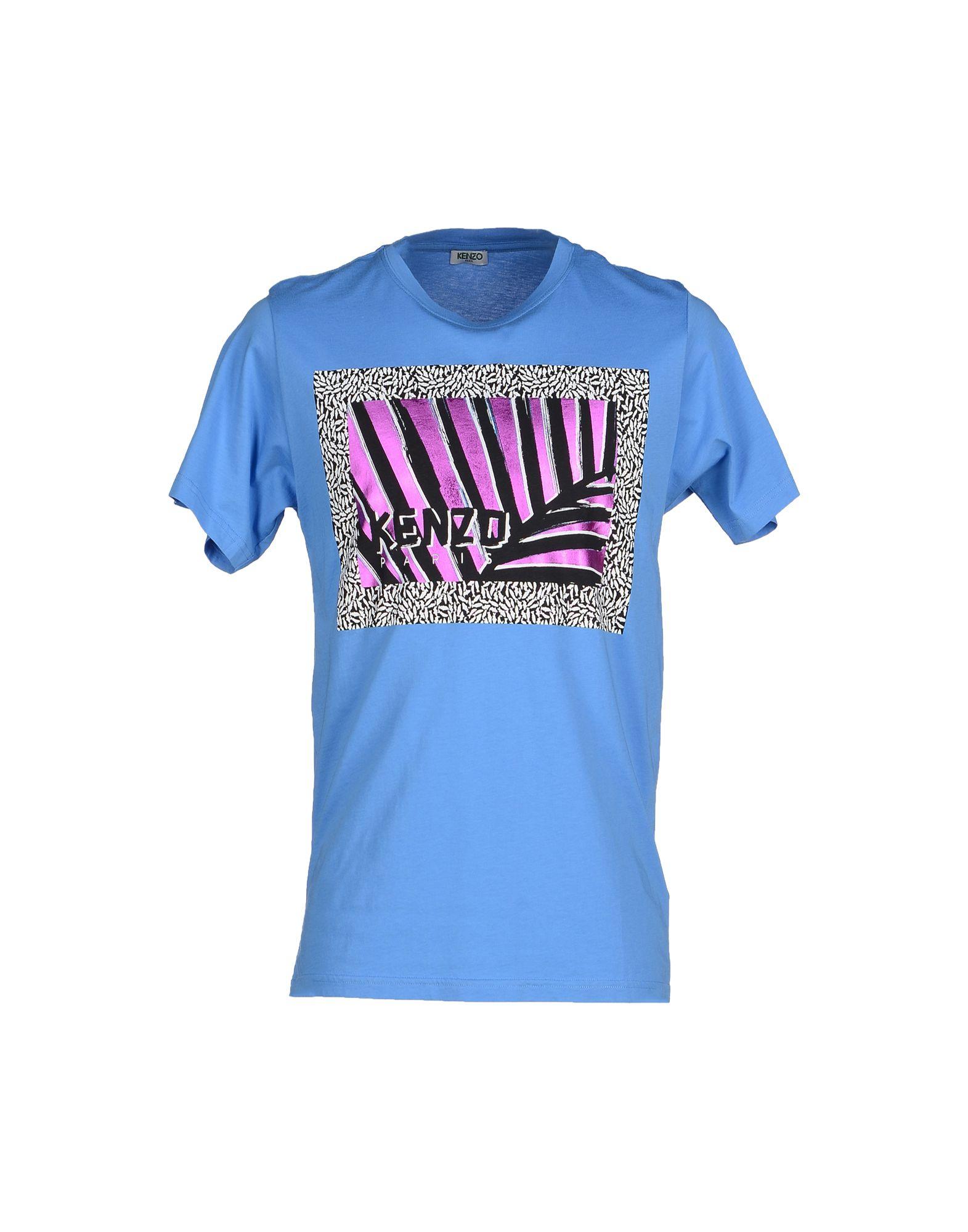 lyst kenzo t shirt in blue for men. Black Bedroom Furniture Sets. Home Design Ideas
