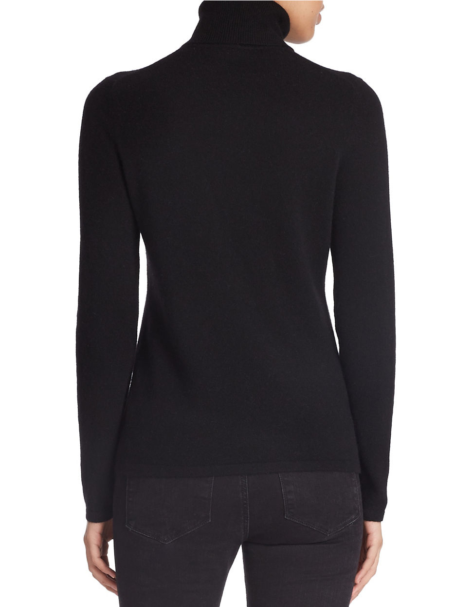 Lord Amp Taylor Cashmere Turtleneck Sweater In Black Lyst