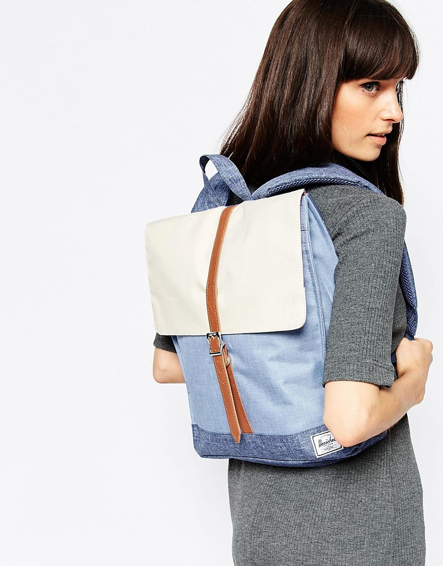 db2593b410 Lyst - Herschel Supply Co. City Backpack In Chambray Colour Block in ...