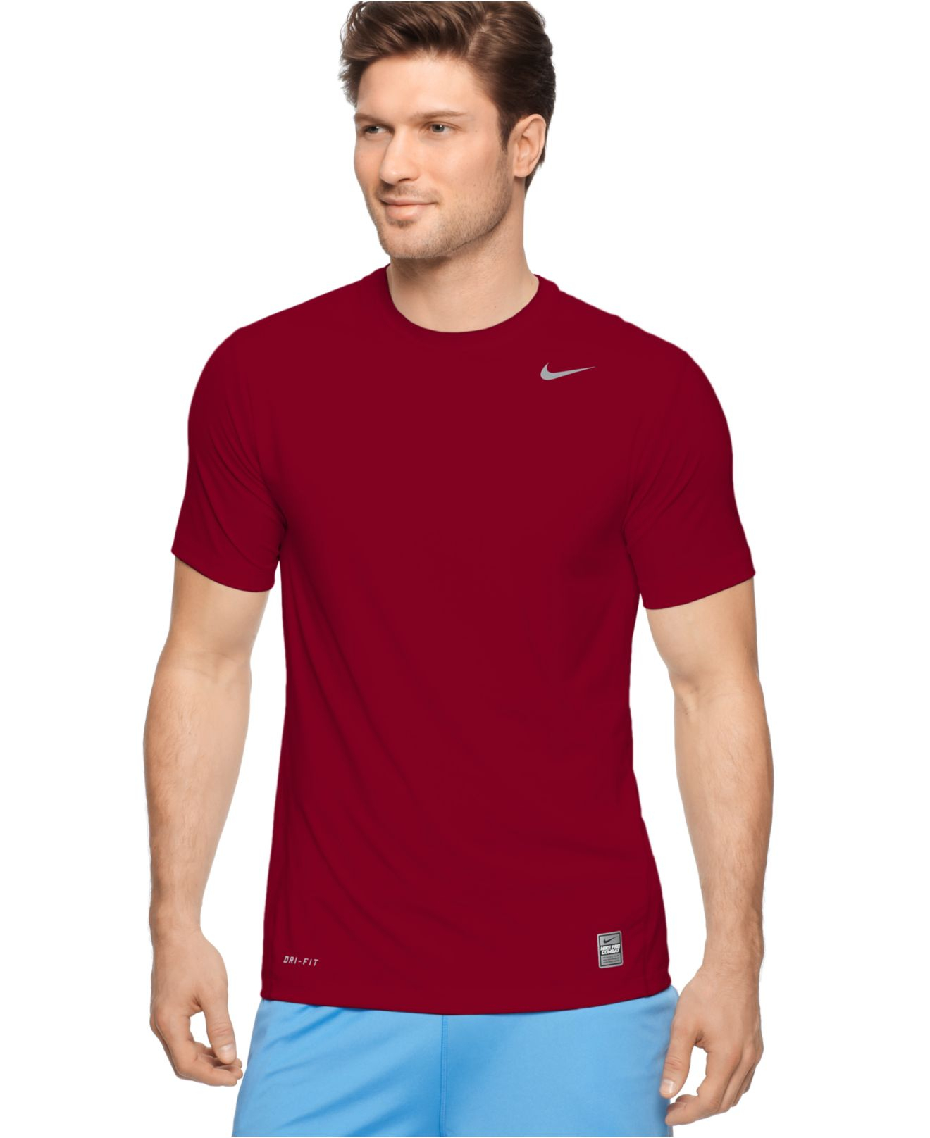Nike Pro Combat Dri Fit T Shirts In Red For Men Lyst