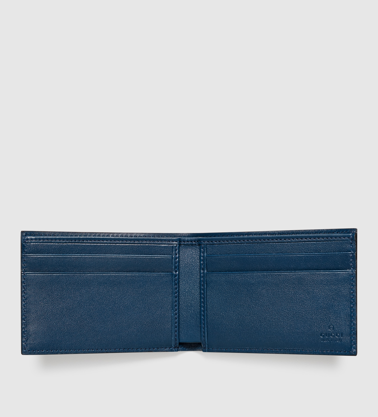 2e46ee06ee81 Gucci Patent Microssima Leather Bi-fold Wallet in Blue for Men - Lyst