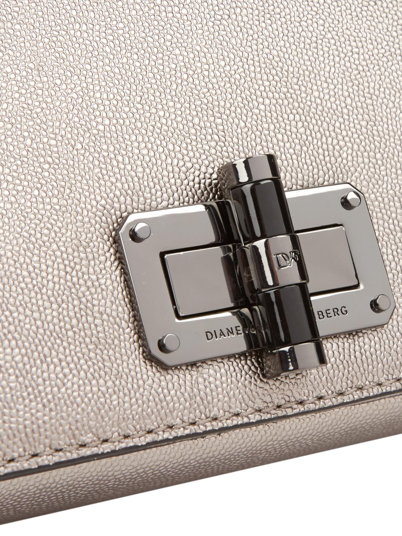 Diane von Furstenberg 440 Gallery Bellini Cross-body Bag in Silver (Metallic)