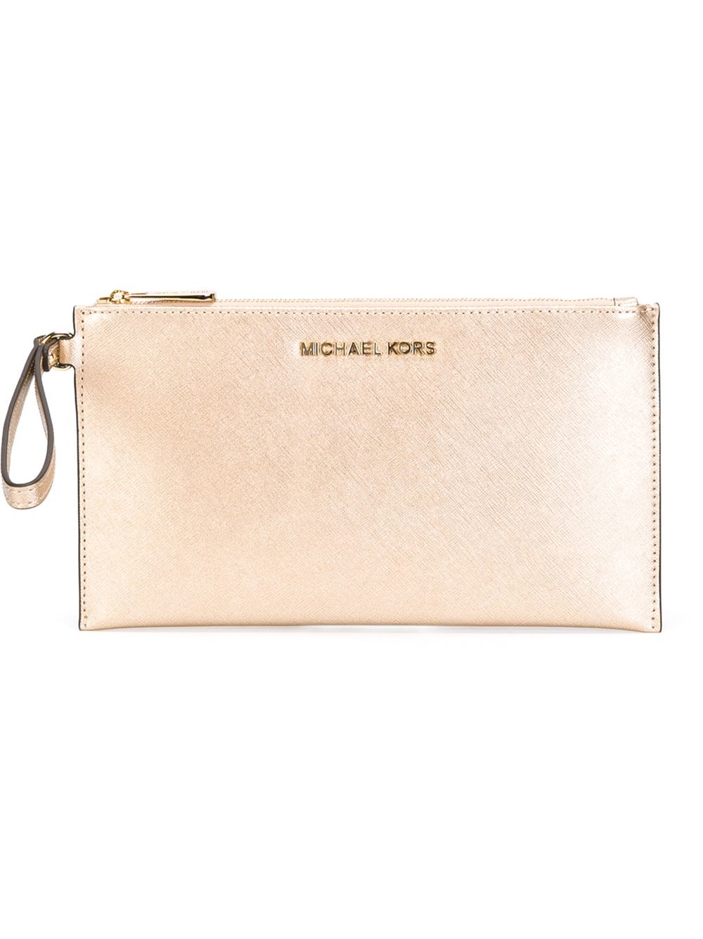 metallic zip around wallet - Nude & Neutrals Michael Michael Kors NlN03
