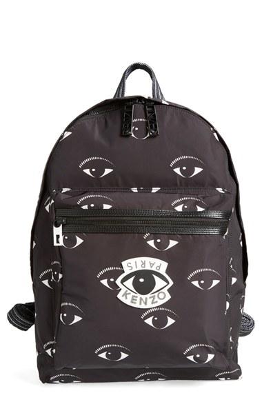 262531ded KENZO Eye Print Backpack in Black - Lyst