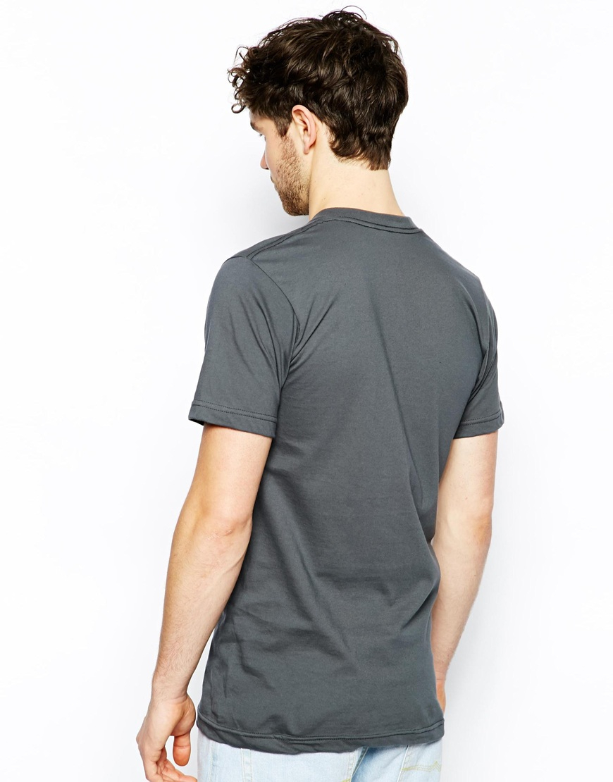 American apparel t shirt with crew neck in gray for men lyst for American apparel custom t shirts