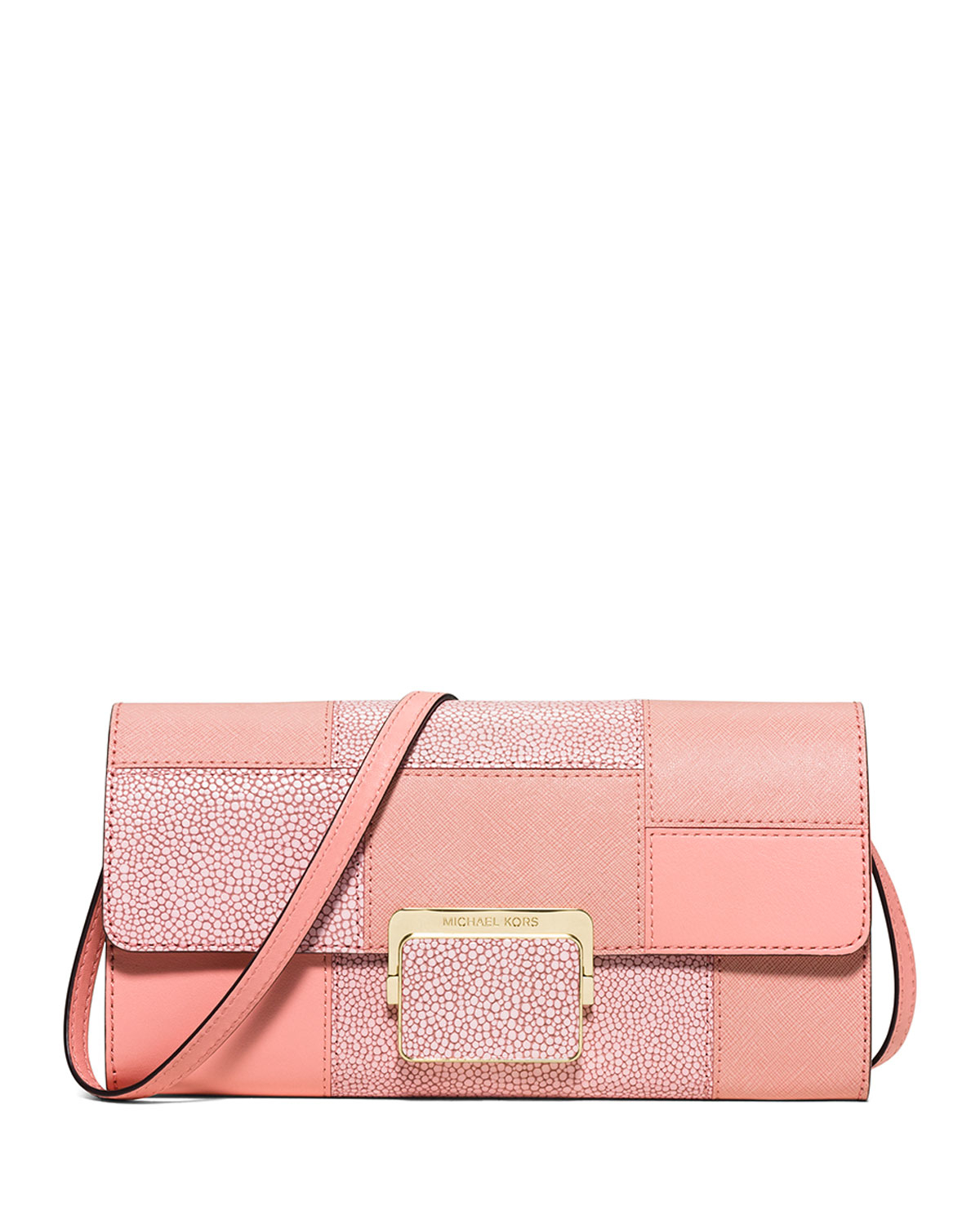 michael michael kors cynthia large patchwork evening