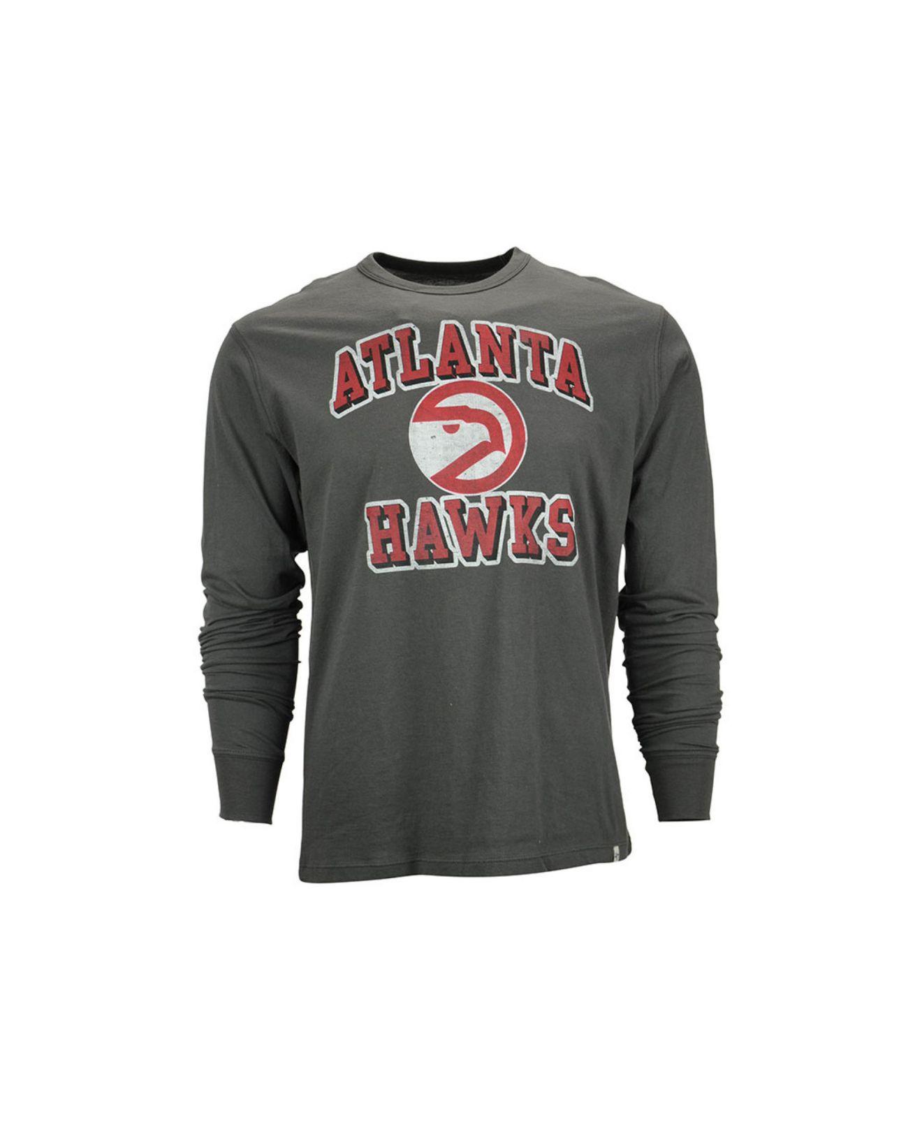 Lyst - 47 Brand Men s Long-sleeve Atlanta Hawks Flanker T-shirt in ... a0adecd9d