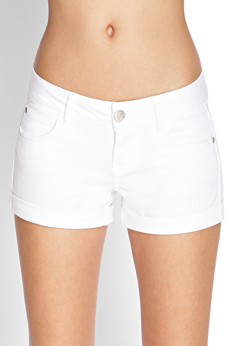 White Stretch Shorts Hardon Clothes